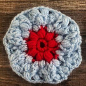 Flower coaster crochet